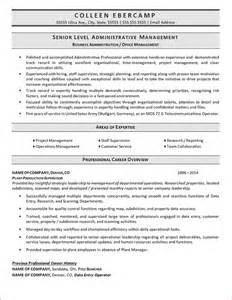 business resume template 8 business administration resumereport template document