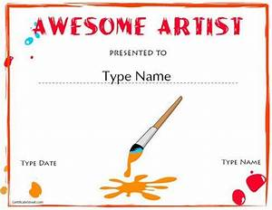 Certificate Maker   Cute Idea To Present To The Kids If We