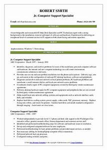Computer Support Specialist Resume Samples