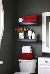 Deco Wc Gris : d co wc couleur peinture gris anthracite d co rouge ~ Melissatoandfro.com Idées de Décoration