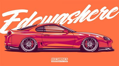 Download wallpapers for desktop with resolution x. Wallpaper : EDC Graphics, Toyota Supra, JDM, Japanese cars ...