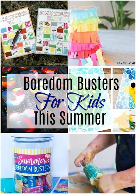 Summer Boredom Busters for Kids in 2020 Summer boredom