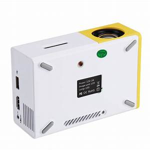 Mini Rgb Led Projector  60 Lumen  Manual Focus  60