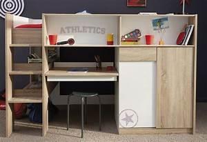 Lit Combiné Bureau : lit combine adulte ~ Premium-room.com Idées de Décoration