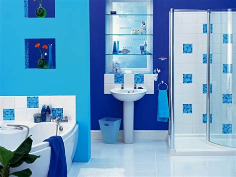 desain kamar mandi warna biru langit rumah impian