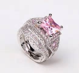 black and pink wedding ring sets vancaro pink and black wedding ring set wedding rings model