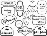 Potter Harry Potion Labels Printable Coloring Pages Bottle Papertraildesign Dragon Printables Paper Halloween Potions Spell Spells Birthday Colouring Magic Classroom sketch template