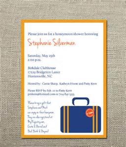 bridal shower honeymoon fund items similar to honeymoon wedding shower invitation on etsy