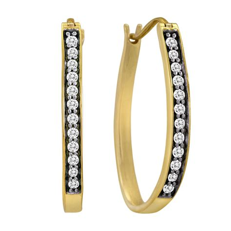 12 Cttw Diamond Hoop Earrings Goldplated Simple Beauty. Comfort Wedding Rings. Bracelet Beads For Sale. Rondelle Beads. Nice Bracelet. Custom Name Bracelet. Durable Watches. Birthstone Stud Earrings. Mary Necklace