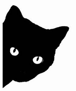 cat face silhouette | Q499 Black cat face | books to read ...