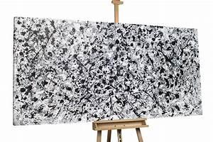 Schwarz Weiß Bilder Mit Farbeffekt Kaufen : abstraktes xxl lbild schwarz wei kaufen kunstloft ~ Bigdaddyawards.com Haus und Dekorationen
