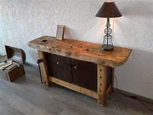 meuble et objets decoration style industriel etabli de With porte d entrée pvc avec meuble vasque salle de bain style ancien