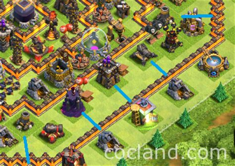 clash of clans best th10 farming base 2015 hypercube x 275 walls th10 farming base layout clash clas