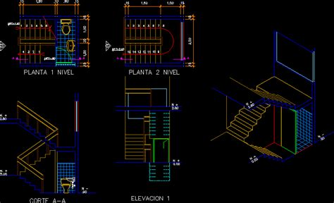 stair case   bathroom dwg block  autocad
