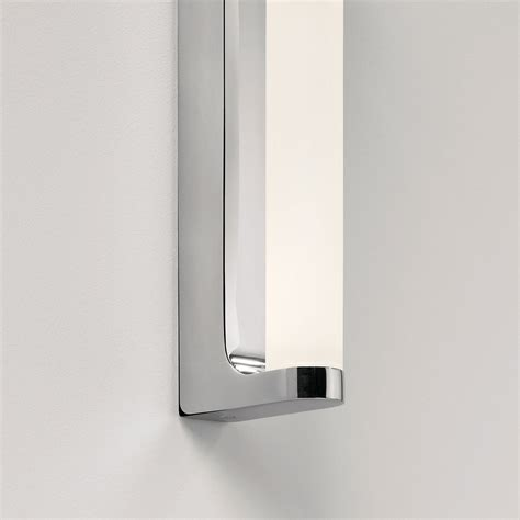 astro avola polished chrome bathroom led wall light at uk