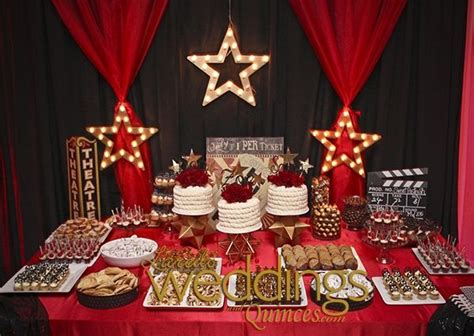 hollywood themed quince dessert table httpwww