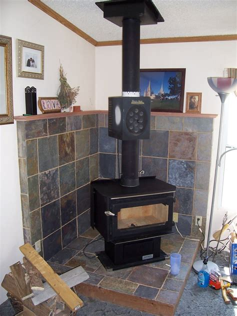 contemporary surround wood stove