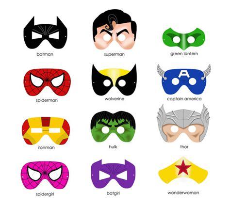printable superhero mask cutouts printableecom