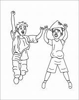 Coloring Pages Children Jump Trampoline Sketch Template sketch template