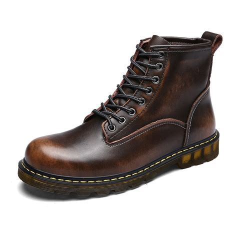 Men Casual Boots Mens Genuine Leather Shoes High