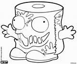 Trash Pack Coloring Paper Roll Toilet Wc Kleurplaat Colorir Papel Pintar Printable Rotolo Igienica Carta Ausmalbilder Mewarna08 Kleurplaten Colorare Rollen sketch template