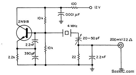 Crystal Oscillator Provides Low Noise Circuit