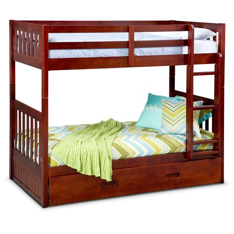 bunk bed ranger bunk bed with trundle merlot