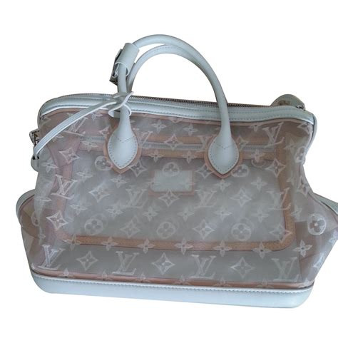louis vuitton lockit transparent monogram handbags cloth