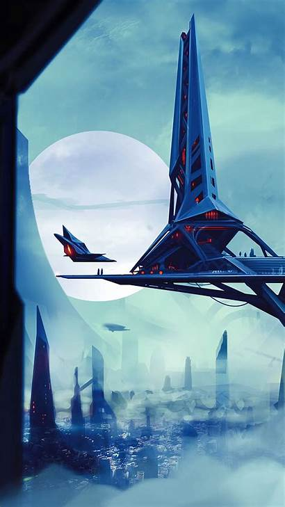 Space Station Sci Fi Future Vibe Iphone
