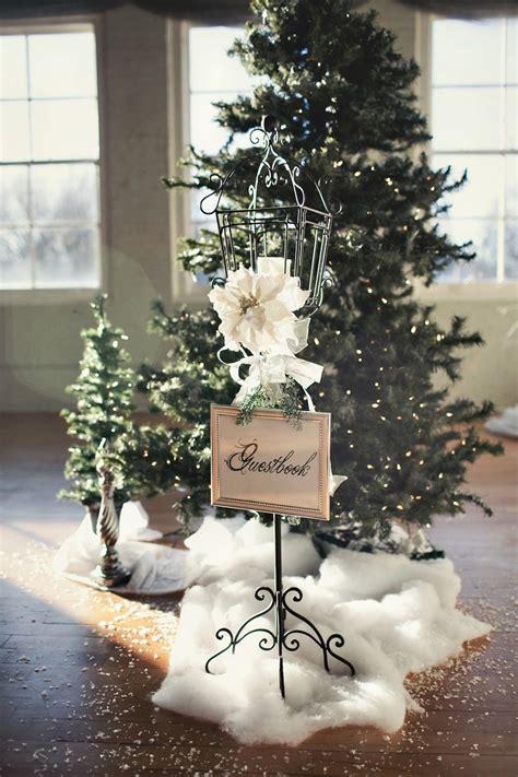 trouwen met kerst ideeen voor winterse decoratie