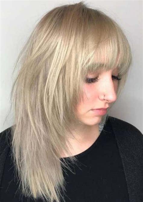 14 asymmetric medium blonde hairstyles 2019 with bangs