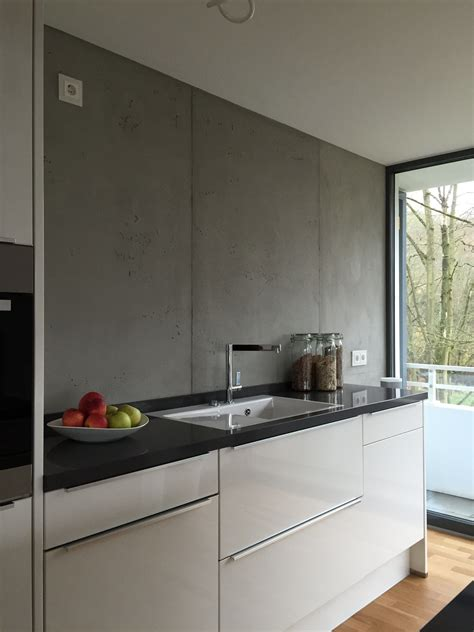 Wandgestaltung Kuche Modern by K 252 Che In Beton Optik K 252 Che In 2019 K 252 Che