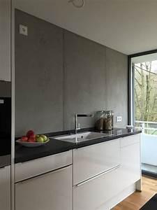 Küchenfliesen Wand Modern : k che in beton optik k che pinterest k che ~ Articles-book.com Haus und Dekorationen