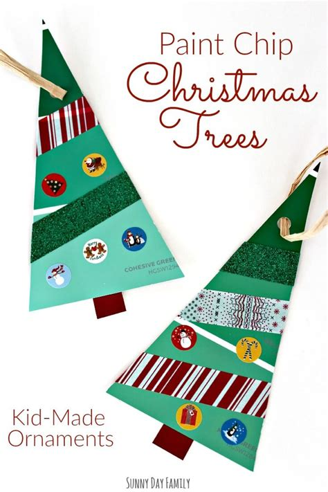 paint chip christmas trees christmas ornament craft