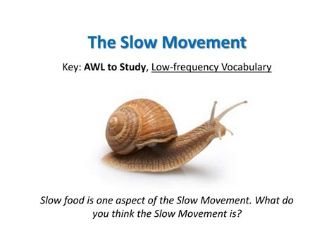 PPT - The Slow Movement PowerPoint Presentation, free ...