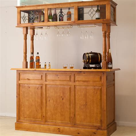 Shop Home Bars by Discontinued 4 Post Home Bar Discontinued Wooden