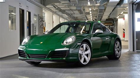 this irish green porsche 911 is the one millionth 911 ever