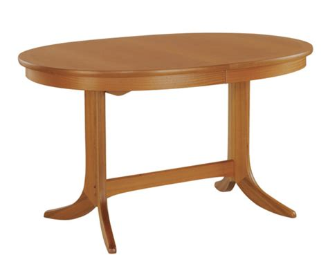 Nathan Classic Teak 2114 Oval Pedestal Dining Table