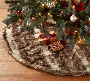 faux fur tree skirt caramel ombre pottery barn With christmas tree skirt pottery barn