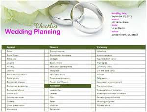 wedding preparation ms word wedding planning checklist office templates