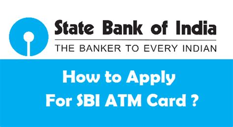 how to apply for a new sbi atm card offline