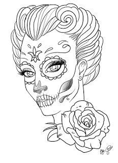 Sugar Skull Coloring Page - AZ Coloring Pages | Quilt