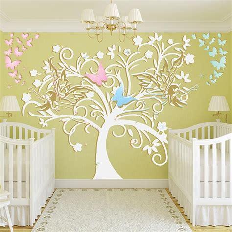 stikers chambre bébé stickers chambre bébé arbre et fées un sticker mural