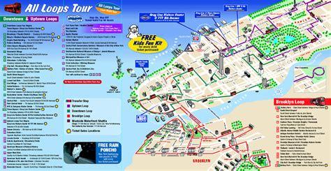 ny tourism bureau map of york city attractions printable tourist