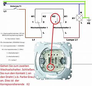 Lichtschalter Mit Kontrollleuchte Schaltplan : wechselschaltung anschlie en mit schaltplan leicht gemacht ~ Buech-reservation.com Haus und Dekorationen