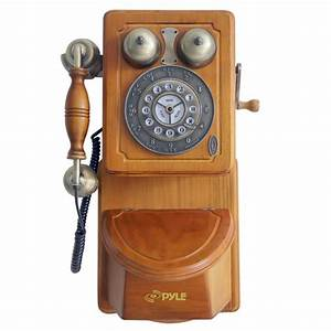 Amazon com : Pyle PRT45 Retro Antique Country Wall Phone