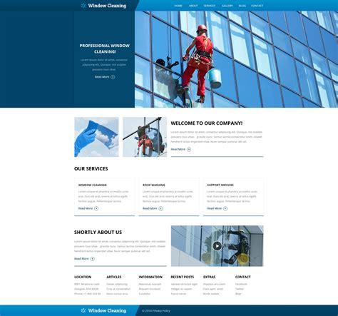website vorlage  fuer fensterputzer