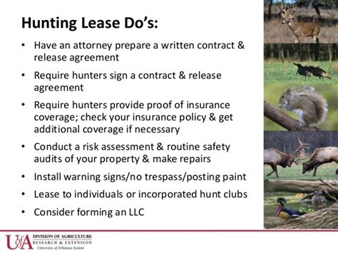 Dr Becky Mcpeake  Hunting Lease Dos And Don'ts