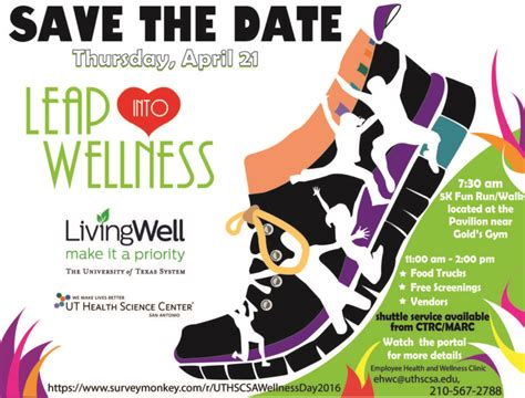 The Wellness wellness day to promote healthy living ut health