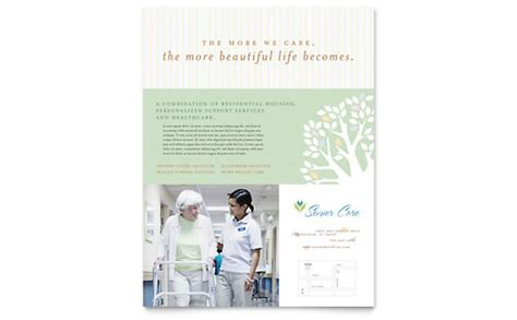elder care nursing home brochure template word publisher